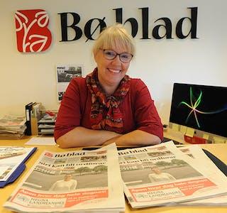 Redaktør Hilde Eika Nesje i Bø blad.