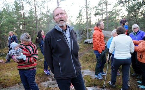 NÆRTUR: Arne Hjeltnes meiner det er viktig å ta vare på turområde i nærmiljøet.  Bergenåsen
