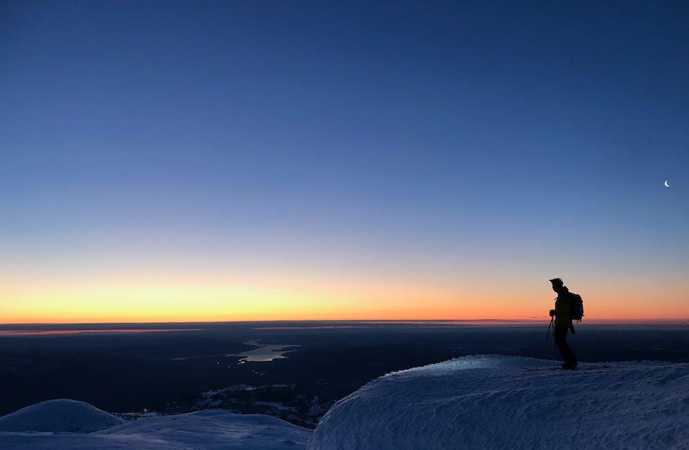 210114 Lifjell Gleksefjell januarmorgon_foto Dag-Øyvind Olsen Djuvik