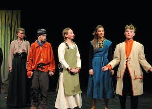 PREMIERE: Her er bilde frå fredagens premiere på Robin Hood i Gullbring. Laurdag er det ny framsyning.