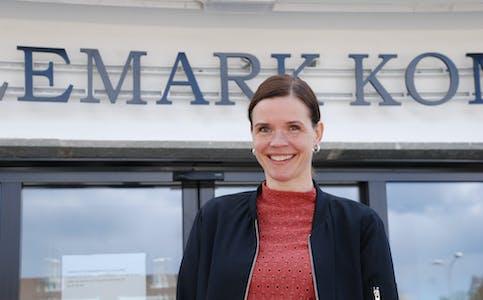 Siri Blichfeldt Dyrland (SP), ordførar i Midt-Telemark. Senterpartiet  Blid ordførar Kommunehus ordførar