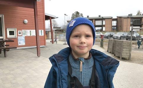 BARNEPRATEN: Olav (5) veit kva han har lyst til å jobbe med når han blir vaksen.