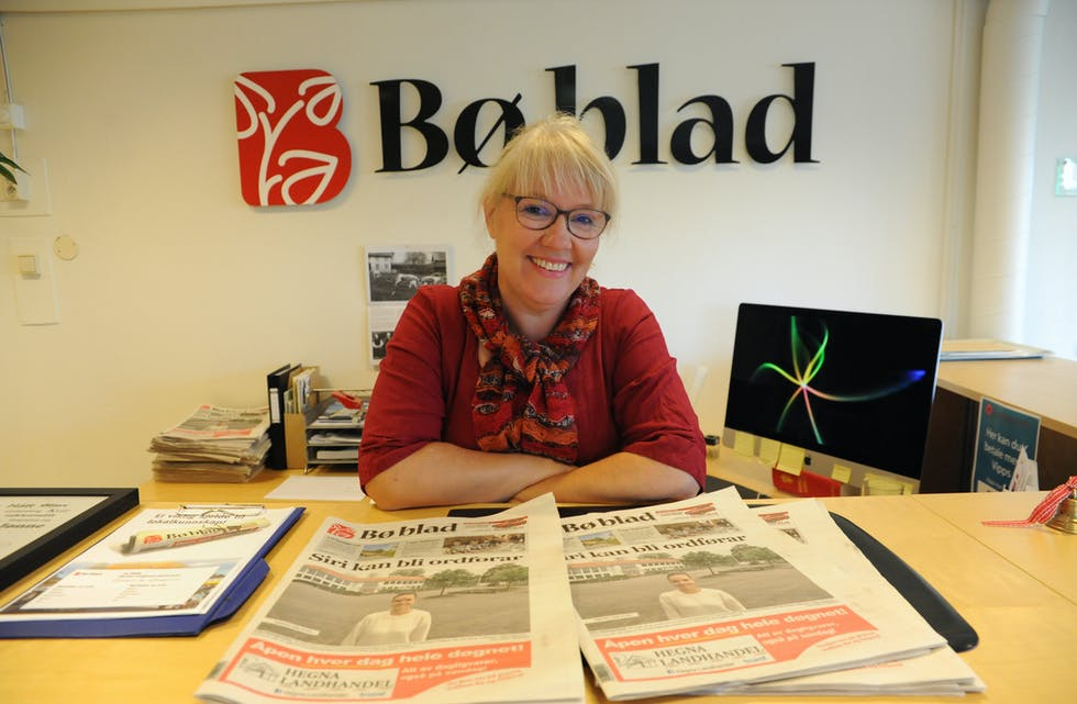 Hilde Eika Nesje, redaktør i Bø blad - lokalavis for Midt-Telemark.