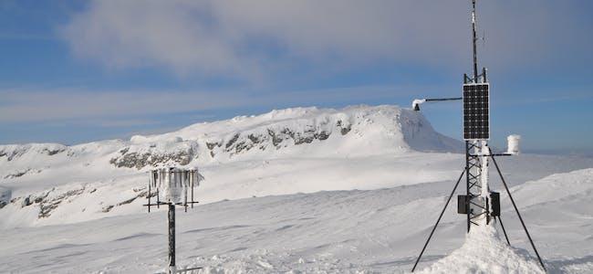 Vêrstasjon på Lifjell. Jfr. spørsmål nr 1 og 15. Foto: Øystein Akselberg
