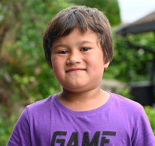 BARNEPRATEN:Jakob (5) kan godt tenke seg ein tur til Finnmark.