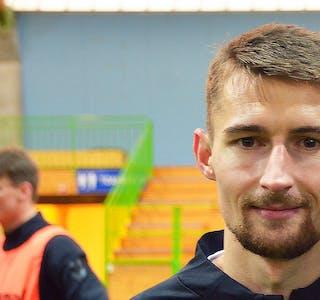 TIL FRANSK TOPPFOTBALL: Elbasan Rashani har signert med den franske toppklubben Clermont Foot. Her er han fotografert i Telemarkshallen i 2019