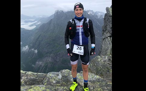 1500 HØGDEMETER: Først sykla opp Vegard Horgen 750 høgdemeter, så sprang han like mange høgdemeter.