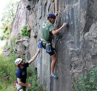 Rasmus Thomsen og Malte Skovgaard frå bø klatreklubb