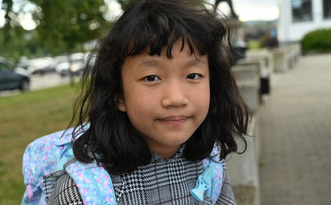 Barnepraten: Sara (9). Foto: Øystein Akselberg