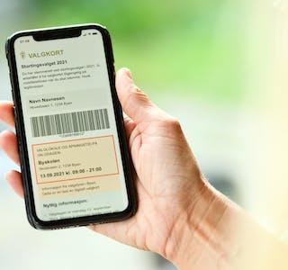 DIGITALE VALKORT: Det har blitt sendt ut over 3,5 millionar digitale valkort i forkant av årets stortingsval.