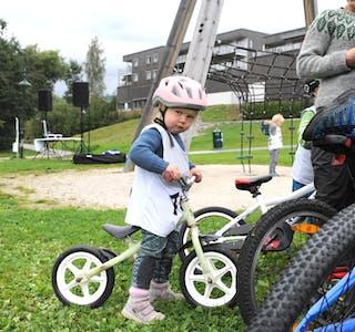 SYKKELRITT I EVJUDALEN: Ein treng ikkje vera stor for å ha det gøy på sykkel. Her kan du sjå 32 bilde frå dagens sykkelritt i Evjudalen.