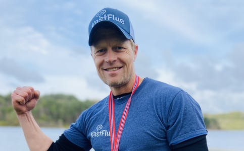 NOREGSMEISTER: Bjørn Knutslid blei noregsmeister i helga.
