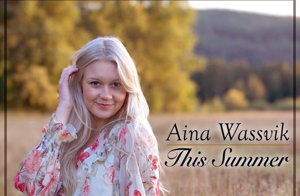 Singelcover: Aina Wassvik gjev ut singellåta «This Summer». Foto: Karine Dyrud Wassvik